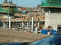 A photo of foundations and piling activities to the east of Amsterdam Central Station in 2005 - high resolution image.jpg