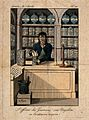 A sour faced apothecary putting together a prescription. Col Wellcome V0010779.jpg