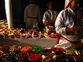 A variety of Holi delicacies, colorful food in India.jpg