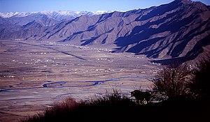 Dagzê District - A view from Ganden Monastery