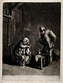A woman changing her child's nappy, her husband is watching Wellcome V0015076.jpg