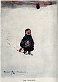 A young boy walks across the snow crying and leaving a trail Wellcome V0038805.jpg