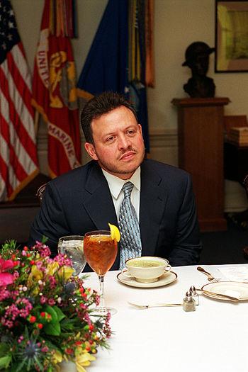 English: King Abdullah II, of the Hashemite Ki...