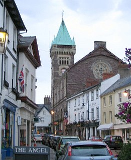 Abergavenny town in Monmouthshire, Wales