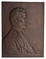 Abraham Lincoln, Bronze Plaque by Victor Brenner.jpg