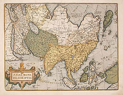 Abraham Ortelius Map of Asia 1595.jpg