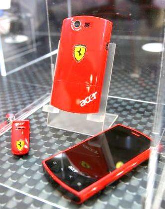 Acer Liquid E - Image: Acer ferrari Liquid
