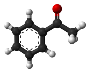 Acetophenone - Image: Acetophenone from xtal 3D balls