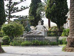 Achilles thniskon in Kerkyra