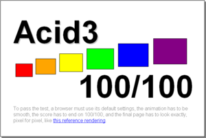 Chromium (web browser) - Acid3 test results on Chromium 7