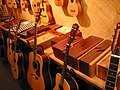 Acoustic guitars, ukuleles, and percussions - musical instrument store at San Francisco.jpg
