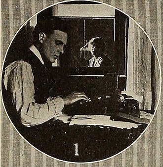 Across the Way - Film still from Reel Life showing Boyd Marshall (left) and Rene Farrington (right)