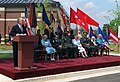 Acting Secretary of the Army The Honorable Joseph W. Westphal, PH.D makes a speech during the Opening and Dedication Ceremony for the Army Womens Museum at Fort Lee, Virginia.jpeg