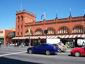 Adelaide Central Market - Adelaide Central Market from Grote Street.