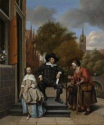 Jan Steen: Adolf en Catharina Croeser aan de Oude Delft