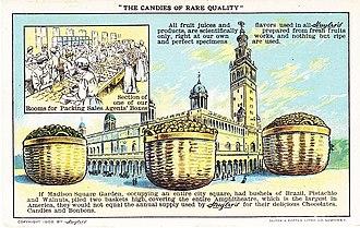 Huyler's - Image: Advertisement Postcard Huylers Madison Square Garden 1909
