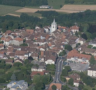 Cossonay - Aerial view of Cossonay