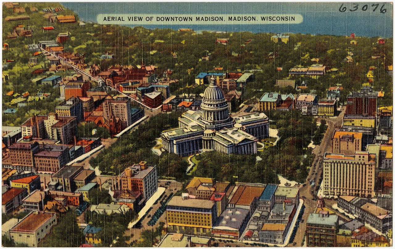 Px Aerial View Of Downtown Madison C Madison C Wisconsin on Px 7 Dakota