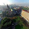 Aerial view of Plaza Roma and the Manila Cathedral inside Intramuros.jpg