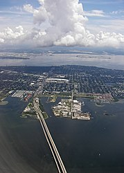 Aerial view of South Tampa and the Gandy bridge.jpg