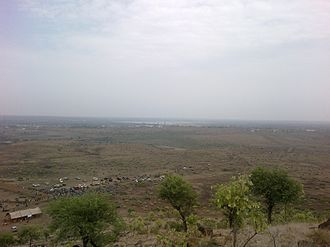 Shajapur - Aerialview of Shajapur from Bhairo Dungri