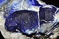 Afghanite et pyrite sur calcite 3(Afghanistan).jpg