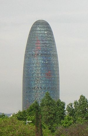"Loca People - The Torre Agbar in Barcelona featured in a postcard in the music video of ""Loca People"" where it was described in the subtitles as 'Giant Dildo'."