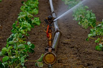 Farm water - An agricultural sprinkler
