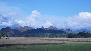 Mounts Iglit–Baco National Park - View of the Iglit and Baco mountains from Aguas, Rizal