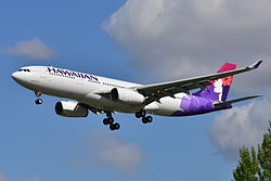 Airbus A330-200 der Hawaiian Airlines