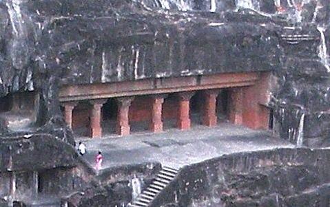 Ajanta Cave 24 exterior