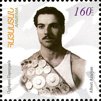 Albert Azaryan - Image: Albert Azaryan stamp
