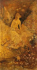 Albert Pinkham Ryder - Panel for a Screen, Woman with a Deer - 1929.6.106B - Smithsonian American Art Museum.jpg