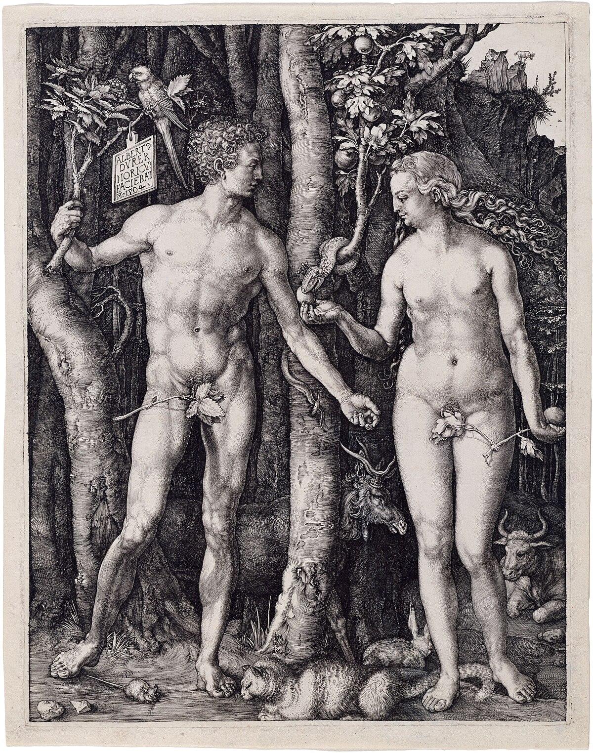 Albrecht Dürer, Adam and Eve, 1504, Engraving.jpg