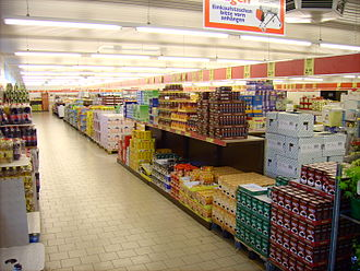 No frills - The aisles of an Aldi supermarket in Germany (2006)