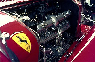 Alfa Romeo 8C - 2300 engine with Roots supercharger.