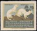 Alfred Probst, Pelzwarenhaus, Nürnberg, Reklamemarke Hermelin.jpg
