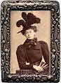 Alice Askew in feather hat - framed.jpg