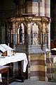 All Hallows Church Tottenham Haringey England - baptismal font by William Butterfield.jpg