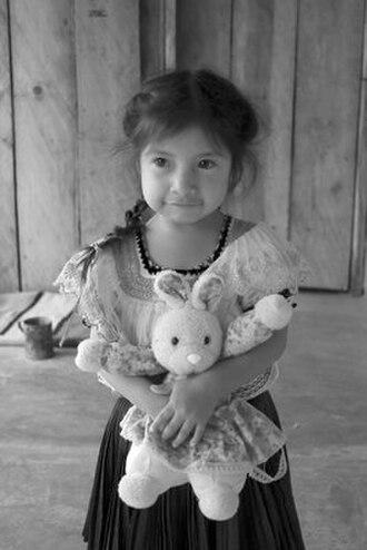 Tzeltal people - Tzeltal girl from Amatenango
