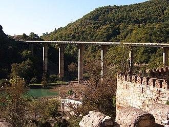 Ananuri Bridge - View of Ananuri Bridge from Ananuri Castle Complex