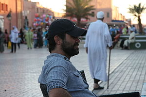 Andrew Scarborough - Andrew Scarborough in Morocco, taking a rest from filming