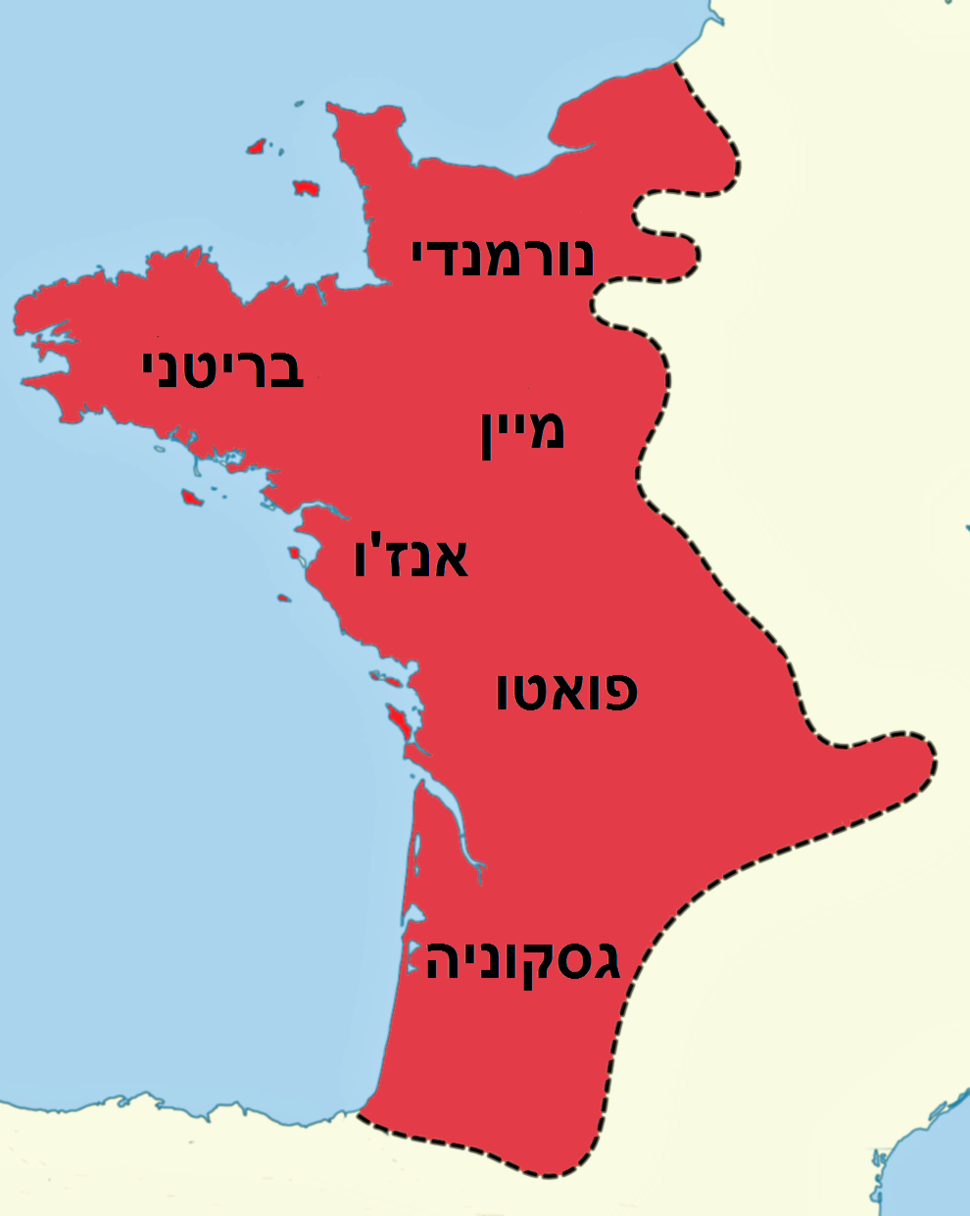 Angevin empire in France c. 1200 (he)