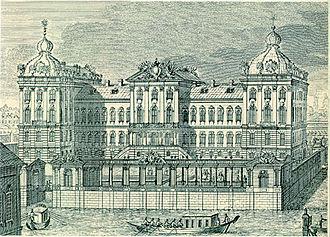 Anichkov Palace - Image: Anichkov palace. 1750