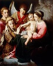Mystische Hochzeit der Hl. Katharina, 1585–87, Museo di Capodimonte, Neapel (Quelle: Wikimedia)