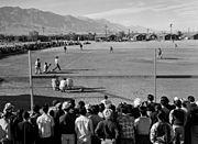 Ansel Adams, Baseball game at Manzanar, 1943