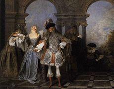 Antoine Watteau - Actors from the Comédie Française - WGA25475