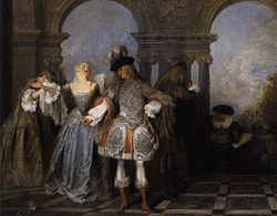 Antoine Watteau - Actors from the Comédie Française - WGA25475.jpg