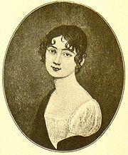 Antonie Adamberger auf einem Stich nach einem Miniaturbildnis von Johann Maria Monsomo (Quelle: Wikimedia)