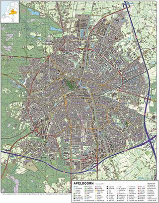 Apeldoorn-topografie